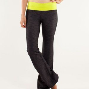 Lululemon Astro Pant Black Denim Slub Split Pea